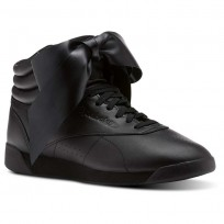 Reebok Freestyle HI Shoes Womens Black/Skull Grey (401BCVNG)