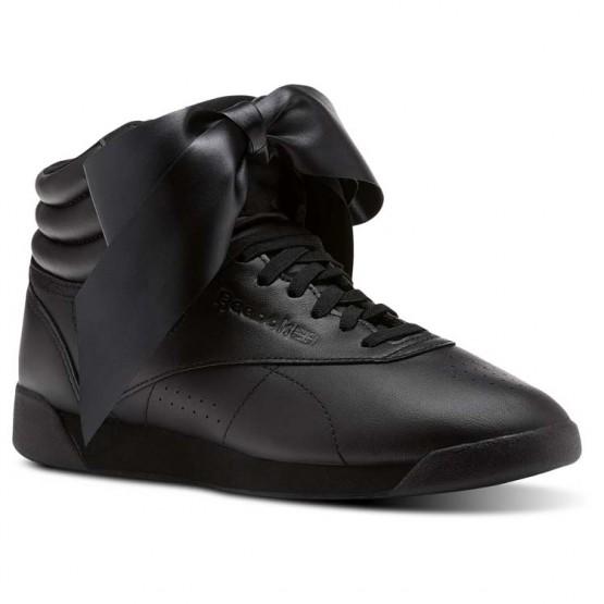 Reebok Freestyle HI Shoes Womens Black/Skull Grey (401BCVNG)