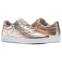 Reebok Club C 85 Shoes For Women Gold/White (401PUQFB)