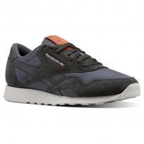 Reebok Classic Nylon Shoes Mens Top-Coal/Soft Black/Skull Grey/Mars Dust (406INDRS)