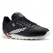 Reebok Classic Leather Shoes Mens Ativ-Black/White/Excellent Red/Chalk (412HMQPF)