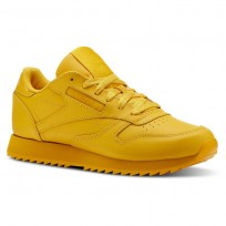 Reebok Classic Leather Schuhe Damen Gold (417JMNZS)