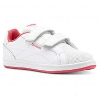 Reebok Royal Comp Shoes For Girls White/Pink (417NXKMP)