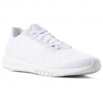 Reebok Flexagon Training Shoes For Men White/White/Grey (424BEZWY)