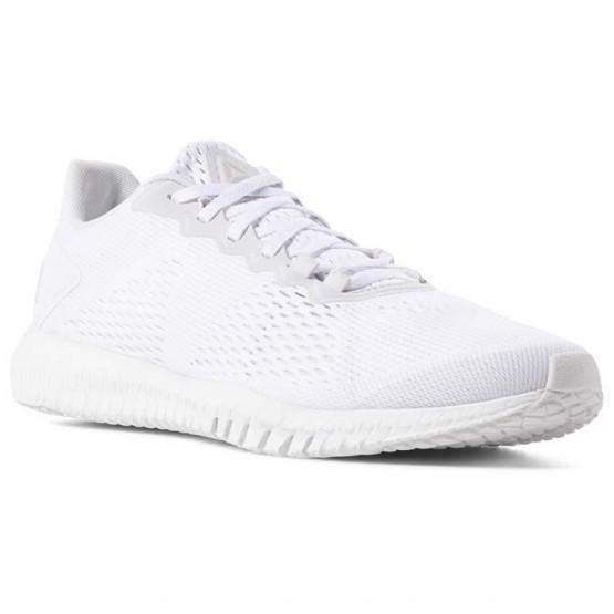 Reebok Flexagon Training Shoes Mens White/Spirit White/Skull Grey (424BEZWY)