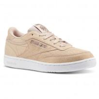 Reebok Club C Shoes For Girls Rose Gold/Beige/White (426XDOAH)