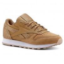 Reebok Classic Leather Schuhe Damen Braun/Beige/Weiß (428MBVOI)