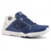 Reebok YourFlex Train 10 Training Shoes Mens Bunker Blue/Spirit White/Cloud Grey (429MOAZR)