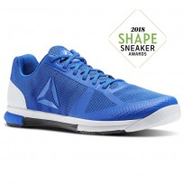 Reebok Speed Training Shoes For Men Blue/Black/White/Grey (429OEAVU)