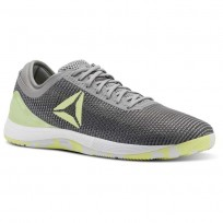 Reebok CrossFit Nano Shoes Mens Tin Greyshark//Lemon Zest/Ash Grey/White (430QTXSV)