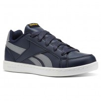 Reebok Royal Prime Shoes For Boys Navy/Grey/Gold (433LANQH)