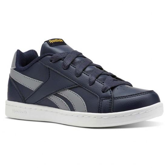 Reebok Royal Prime Shoes Boys Collegiate Navy/Flint Grey/Fierce Gold (433LANQH)