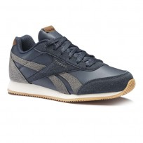 Reebok Royal Classic Jogger Shoes For Boys Navy/Cream (437XQIDP)