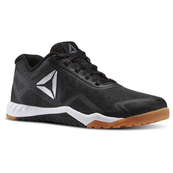 Reebok ROS Workout TR 2.0 Training Shoes Womens Black/Reebok Rubber Gum/White/Pure Silver (440TQMJZ)