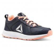 Reebok ALMOTIO 4.0 Running Shoes Girls Col Navy/Dgtl Pnk/Slvr Met (440UTMPE)