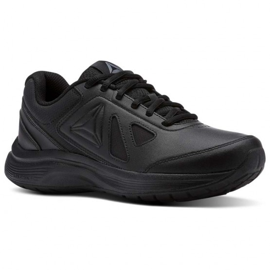 Reebok Walk Walking Shoes Womens Black/Alloy (441KCXNU)