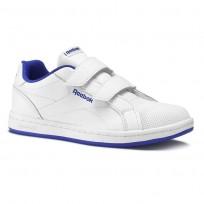 Chaussure Reebok Royal Comp Enfant Blanche/Bleu Royal (442ZWPIO)