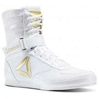 Reebok Boxing Tactical Shoes Mens White/Gold (444FSJME)