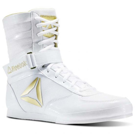 Reebok Boxing Tactical Shoes Mens White/Gold (444FSJME)