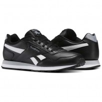Reebok Royal Shoes Mens Black/White/Baseball Grey (447UOMVQ)