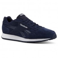 Reebok Royal Glide Shoes Mens Collegiate Navy/White/Suede (449ODYNK)