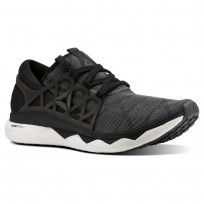 Reebok Floatride Run Running Shoes Mens Black/White/Ash Grey (453MYPID)