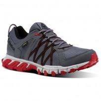 Reebok Trailgrip Walking Shoes For Men Grey/Red/Black (455XTAMK)
