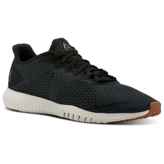 Reebok Flexagon Training Shoes Mens Chalk Green/Black/Chalk/Gum (456IRSKT)
