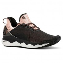 Reebok Floatride Run Smooth Running Shoes Womens Strch-Black/Digital Pink/Wht (459RIXTV)