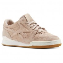 Reebok Phase 1 Pro Shoes For Women Beige/Pink (462LTFHY)