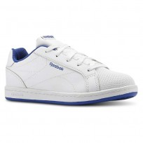 Reebok Royal Complete Shoes For Kids White/Royal (463IXRPD)