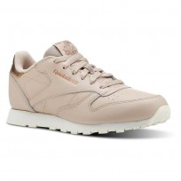 Reebok Classic Leather Shoes Girls Rm-Bare Beige/Chalk (475CYIVW)