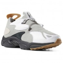 Reebok Daytona DMX Experiment Shoes For Men White/Grey/Grey/Black (475RXYOD)