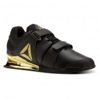 Reebok Legacy Lifter Shoes Mens Black/Gold (481ONKER)