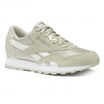 Reebok CL NYLON Shoes Boys Skull Grey/Wht/Silver (483BORIX)