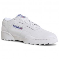 Reebok Workout Ripple OG Shoes Mens Foundation-Chalk/Team Dark Royal/Excellentred (484GOEYS)