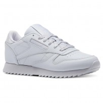 Reebok Classic Leather Shoes Womens Cloud Grey (487UEQTM)