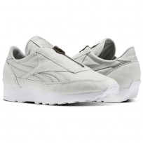 Reebok Aztec Shoes Womens Skull Grey/Silver Metallic/White (494CVYIE)
