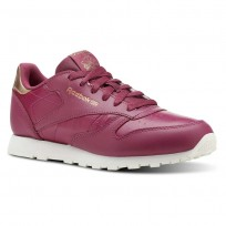 Reebok Classic Leather Shoes Girls Rm-Twisted Berry/Chalk (498DGOXP)