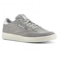 Reebok Club C 85 Shoes Mens Trc-Tin Grey/Chalk (503DMTSN)