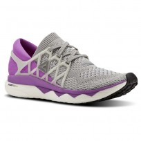 Reebok Custom Floatride Run Running Shoes Womens Light Grey Heather/Medium Grey Heather/Vicious Violet (506PBCFL)