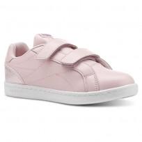 Reebok Royal Comp Shoes For Girls Pink/White/Silver (507EKXYB)