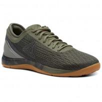 Reebok CrossFit Nano Shoes Womens Hunter Green/Coal/Khaki/Bright Lava (508CQSHO)