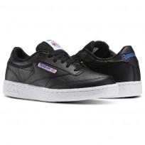 Reebok Club C Shoes For Kids Black/White/Blue/Red (509XLUFK)