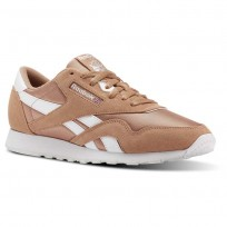 Reebok Classic Nylon Shoes Mens Sf-Bare Brown/White (510EGNDX)