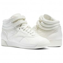 Reebok Freestyle HI Shoes Womens Chalk/Chalk (510XQAYC)