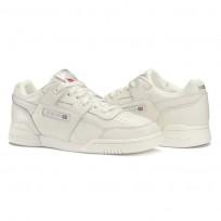 Reebok Workout Plus Shoes Womens Chalk/Metallic Silver (512PLIVO)