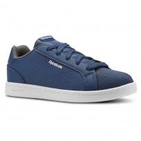Reebok Royal Complete Shoes For Kids Blue/White (512VHKGB)