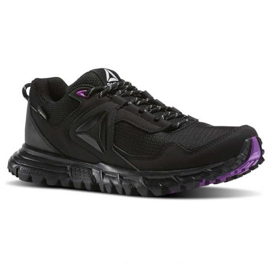 Reebok Sawcut Walking Shoes For Women Black/Purple/Grey (513GATRQ)