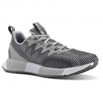 Reebok Fusion Flexweave Running Shoes Womens Tin Grey/Shark/Spirit White (515CMFOX)